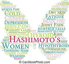 felhő, szó, hashimoto's