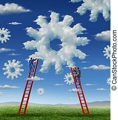 felhő, vezetőség