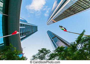 felhőkarcoló, alatt, abu dhabi, uae uae uae