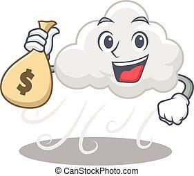 felhős, pantalló, tervezés, gazdag, szeles, pénz, fog, ...