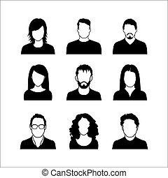 felhasználó, ikonok