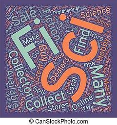 felhasználható, collectibles, fogalom, sci, szöveg, kiárusítás, 1, hogyan, wordcloud, háttér, fi, talál