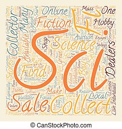 felhasználható, collectibles, fogalom, sci, szöveg, kiárusítás, hogyan, wordcloud, háttér, fi, talál