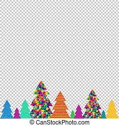 felice, albero, natale, fondo, trasparente