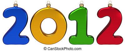 felice anno nuovo, 2012, baubles