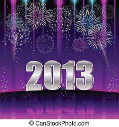 felice, anno, nuovo, 2013