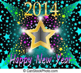 felice anno nuovo, 2013, stella cadente