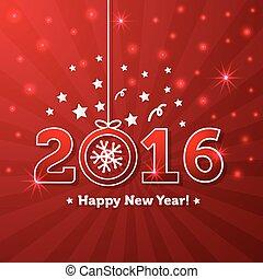 felice anno nuovo, 2016, cartolina auguri