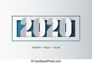 felice, anno, nuovo, 2020