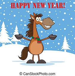 felice anno nuovo, cavallo