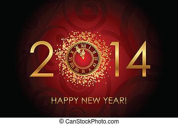 felice anno nuovo, sfondo rosso
