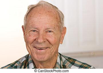 felice, anziano, uomo