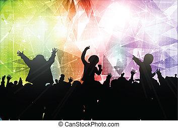felice, bambini, ballo