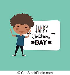 felice, bambini, giorno
