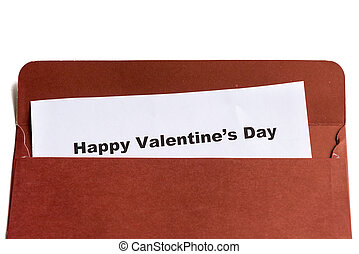 felice, busta, giorno, valentine