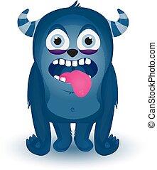 Monster vettore cartone animato felice monster vettore