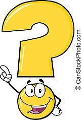 felice, domanda, marchio giallo