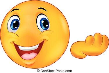 felice, emoticon, smiley, cartone animato