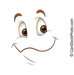 felice, espressione, faccia