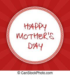 felice, festa mamma, augurio, card., vettore, illustrazione