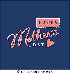 felice, festa mamma, mano, iscrizione