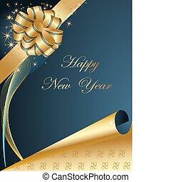 felice, fondo, anno nuovo