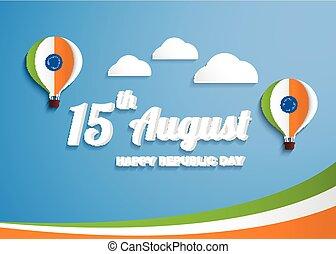 felice, giorno, indipendenza, celebrazione