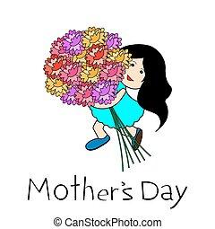 felice, giorno, scheda, madre