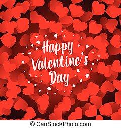 felice, giorno valentines, bello, cuori, fondo