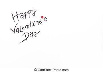 felice, giorno valentines, cartolina auguri, immagine...