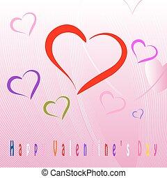 felice, giorno valentines, celebrazione, cartolina auguri