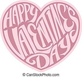 felice, giorno valentines, cuore, disegno