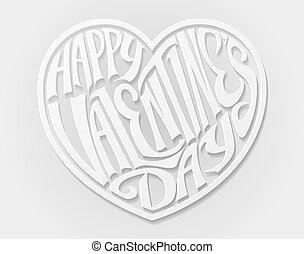felice, giorno valentines, cuore