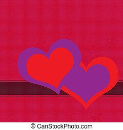 felice, giorno valentines, cuori