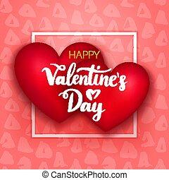 felice, giorno valentines, due cuori