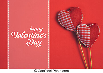 felice, giorno valentines, e, cuore
