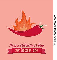 felice, giorno valentines, o, compleanno, cartolina auguri, vettore, illustrazione