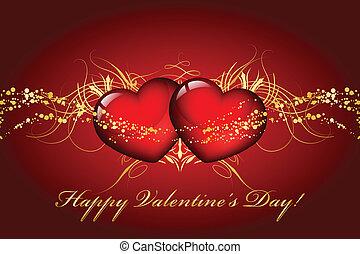felice, giorno valentines, scheda, con, sentire