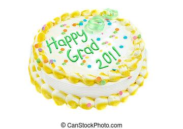 felice, graduazione, torta