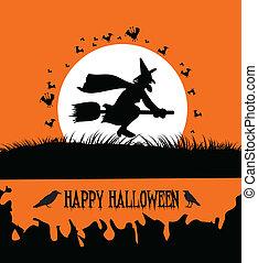 felice, halloween, fondo, spo