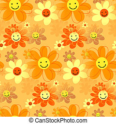 felice, hipster, fiori