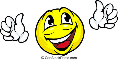 felice, icona, faccia