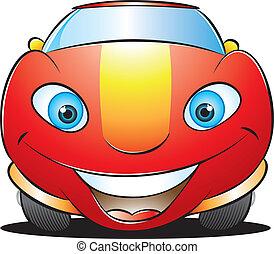 felice, macchina rossa