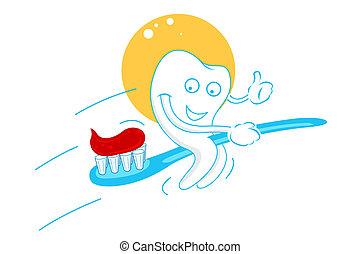 felice, pasta dente, denti