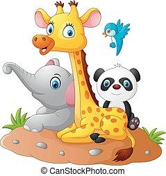 Safari cartone animato animale felice animale - Animale cartone animato immagini gratis ...