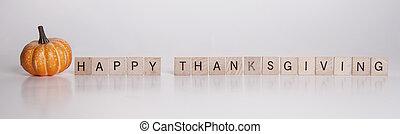 felice, scrabble, ringraziamento, pezzi