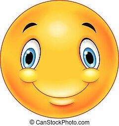 felice, smiley, emoticon, faccia