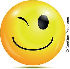 felice, smiley, emoticon