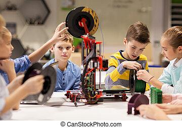 felice, stampante, robotica, 3d, scolari
