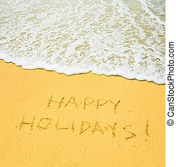 felice, vacanze